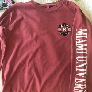 Miami University Comfort colors long sleeve(NEW)